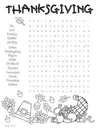 thanksgiving word search puzzle and turkey cookies