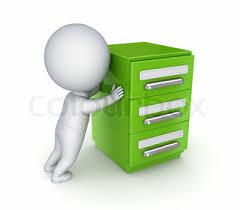 Green Bookcase 3d Small Person And Green Bookcase Stock Photo Colourbox