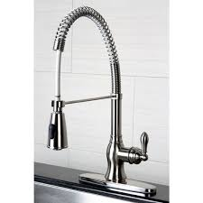 spiral kitchen faucet american classic modern satin nickel spiral pull kitchen