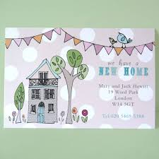 personalised change of address cards by molly moo designs