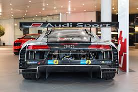 audi showroom audi r8 lms gt3 brings thunder to showroom floor