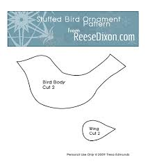 stuffed bird ornaments reese dixon