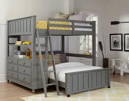 ne kids lake house full high loft bed with bed stone grey kids