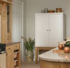 kitchen unfinished oak wood free standing kitchen pantry with 2