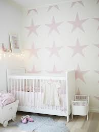 baby nursery decor pink pattern stars adorable ideas stunning