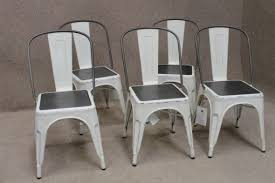 Tolix Dining Chairs Tolix Style Dining Chair Vintage Style White Painted Finish