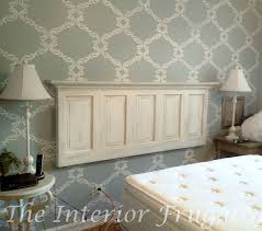 how to turn an old door into a headboard the interior frugalista