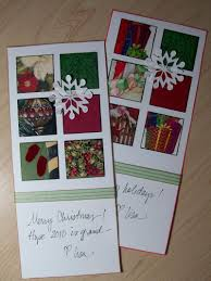 old christmas cards make a holiday collage