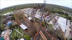 6 Flags In Chicago Goliath Topping Off At Six Flags Great America Aerial Footage