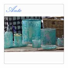 Cracked Glass Bathroom Accessories Crackled Mosaic Glass Bathroom Accessories Sets Crackled Mosaic