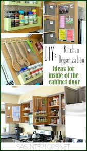 Cabinet Designs For Kitchens Kitchen Organization Ideas For The Inside Of The Cabinet Doors
