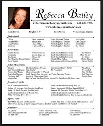 Theatre Resume Template Theatrical Resume Template Free Acting Resume Template 10 Acting