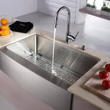scratch resistant stainless steel sink kraus khf20033kpf1622ksd30ch 33 inch farmhouse single bowl stainless
