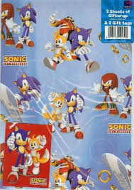 hedgehog wrapping paper sonic the hedgehog gift wrap with gift tags co uk toys