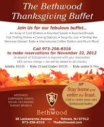 flyerboard the bethwood thanksgiving buffet northjersey