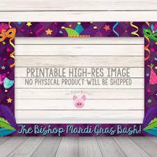 mardi gras frame printable mardi gras photo booth frame happy barn