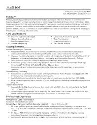 Sample Resume For Medical Laboratory Technician by Clinical Resume Resume For Your Job Application