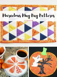Mug Rug Designs 22 Marvelous Mug Rug Patterns Favequilts Com