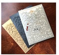 invitation pockets custom laser cut luxury wedding invitations pockets