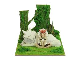 Studio Ghibli Decor Miniatuart Kit Studio Ghibli Series San U0026 Mountain Wolf Yamainu