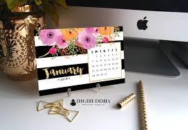 Japanese Desk Accessories by 2018 Floral Calendar 2018 Planner Pretty Planner Desk