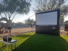 outdoor movie screen rental inflatable movie screen in arizona
