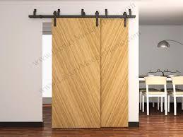 Wood Barn Doors austin bypass sliding barn door hardware