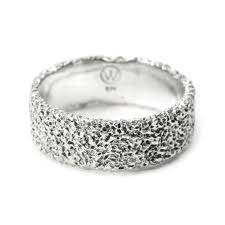 8mm ring 8mm ring eroded sterling silver ring by welfe