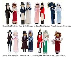 austen clothespin doll ornament kit henry tilney and