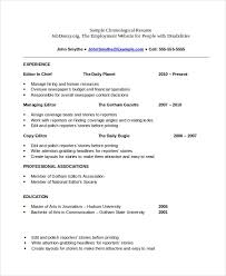 easy to read resume format chronological resume format exle exles of resumes