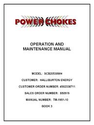 halliburton tech manual tm 1951 10 rev b valve