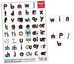 tlc pr10 lively letters mini picture cards reading with tlc