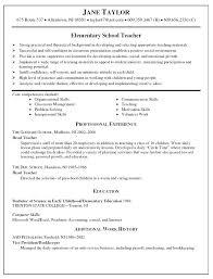 sample resume with volunteer work elementary teacher free