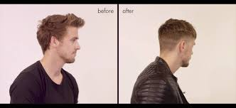 before and after thinning mens haircut fringe cut hairstyle step by step tutorial