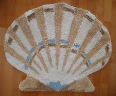 Seashell Bathroom Rug Bathroom Accessories Scallop Shells Scallop Shell Bath Rug