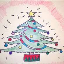 draw christmas draw step step drawing tutorials