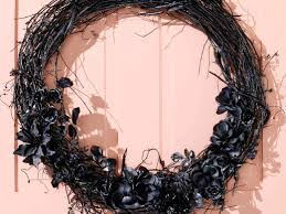 Black Halloween Wreath Fall Wreaths Diy A Halloween Door Decoration