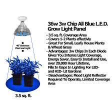 Led Blue Light Bulb by 36 Watt All Blue Grow Bulb Led Grow Lights Growace Com