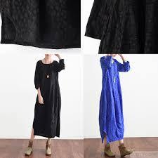 new blue prints cotton dresses plus size casual sundress long