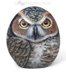 how to paint an owl on rock pdf lesson garden ideas pinterest