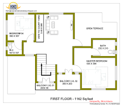 sqft kerala style 3 bedroom house plan from smart home gf plan house best open floor plan home designs small 2 story plans meters house 15 sumptuous 4 bedroom