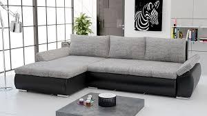canapé d angle gris tissu canapé d angle convertible en pu noir et tissu gris bolzano