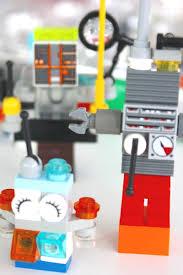 mini lego robots fine motor steam building activity