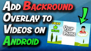 how to add to a on android how to add a background overlay to vertical on android