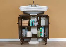 Bathroom Pedestal Sink Storage Sinkwrap Is An Easy And Affordable Way To Add Storage To Tiny