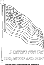 us flag coloring pages usa patriotic flag coloring poster 3 cheers for red white and blue