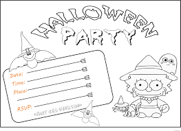 halloween invitation coloring pages u2013 fun for halloween