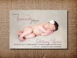 birth announcement card heavenly peace on