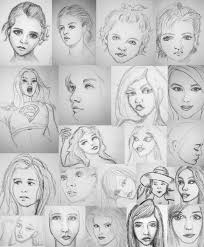 female face sketches by pmucks on deviantart