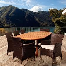 Overstock Patio Dining Sets - amazonia livorno 9 piece square eucalyptus wood patio dining set